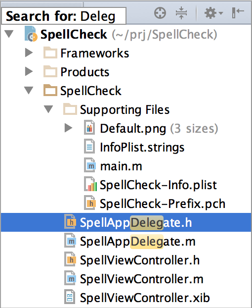 AppCode SearchHighlighting