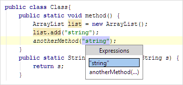 IntroduceConstant Java InPlace SelectExpression