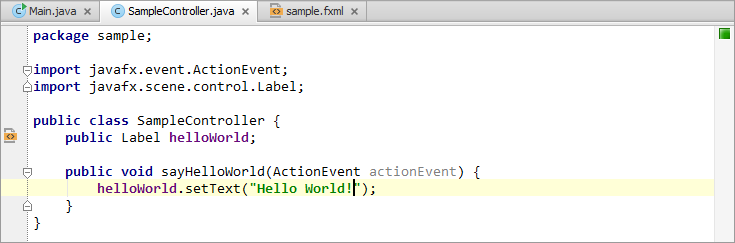 Developing a JavaFX Hello World Application: Coding Examples ...