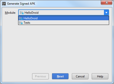 android apk wizard step1