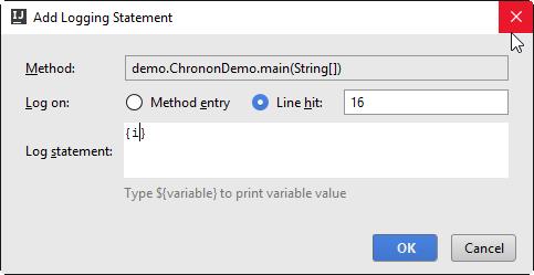 chronon add logging statement1