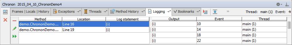 chronon add logging statement2