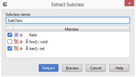 cl extractSubclassDialog