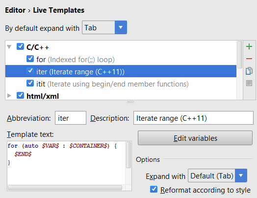 cl speed search in live templates