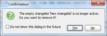 deleteEmptyChangelist
