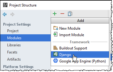 django support for a module