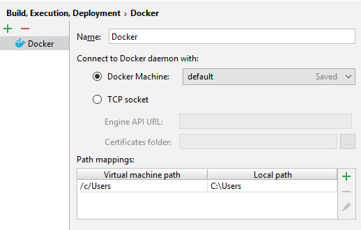 docker configuration