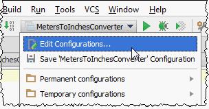 Choosing IntelliJ IDEA run/debug configurations