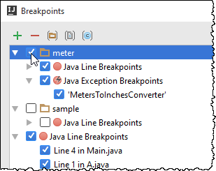 ij toggle group of breakpoints