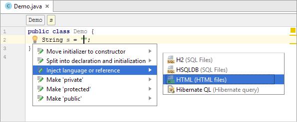 java inject html