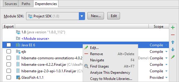 libs project structure module dependencies