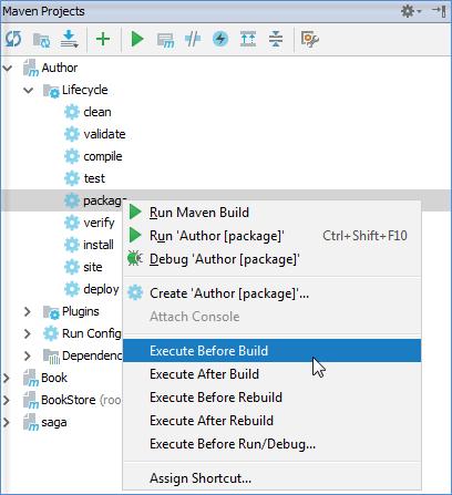 maven context menu trigger