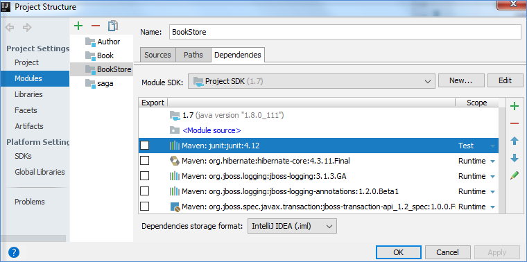 maven project structure scope