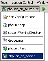 php storm select run configuration