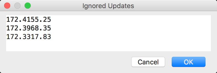 ps ignored updates