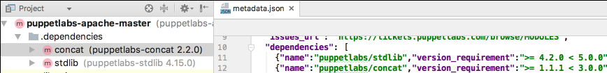 puppet install dependencies1