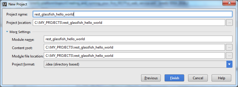 rest ws glassfish create project step 2