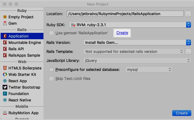 rm new rails app with gemset