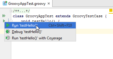 run groovy tests