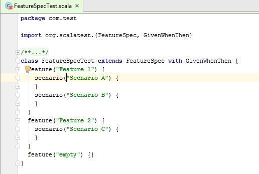 scalaTest code RunTestInScope