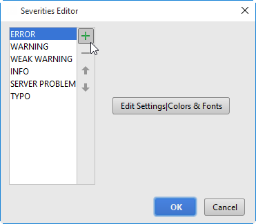 severity editor