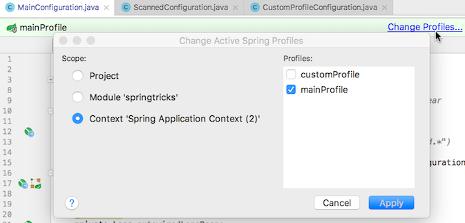 spring change profile