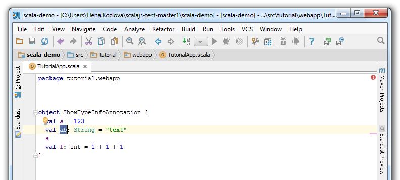 type info add result