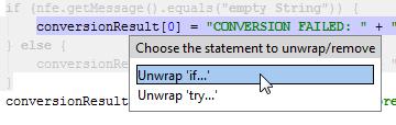 unwrap statement