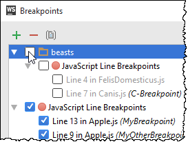 ws toggle group of breakpoints