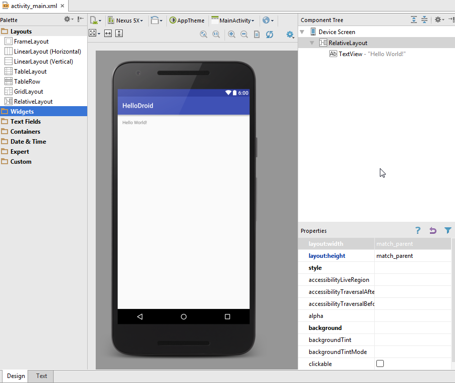 Android UI designer tutorial