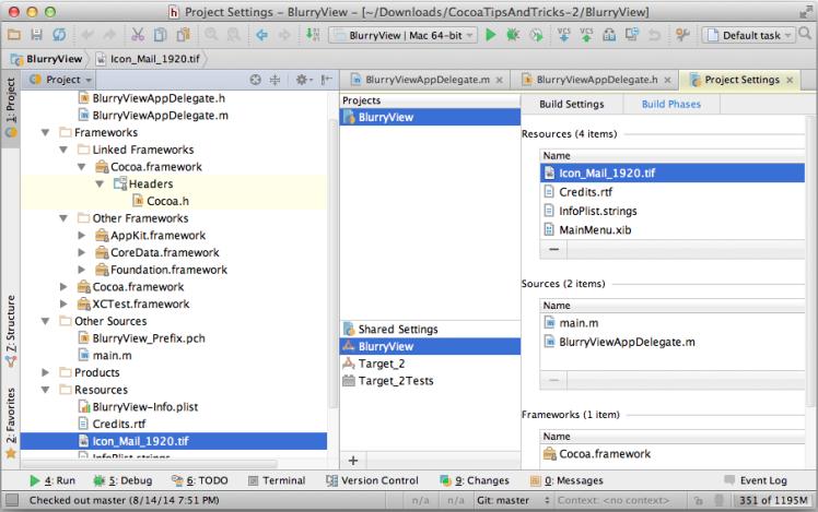 AppCode Drag Files