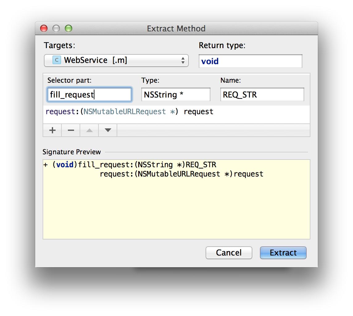 AppCode ExtractMethodRef