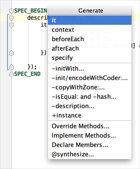 AppCode GenerateUT2