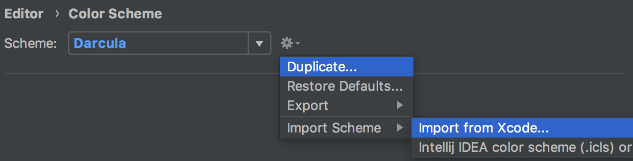 AppCode Import Color from Xcode