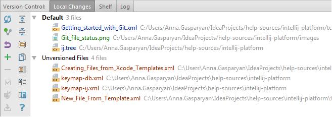 Git file status