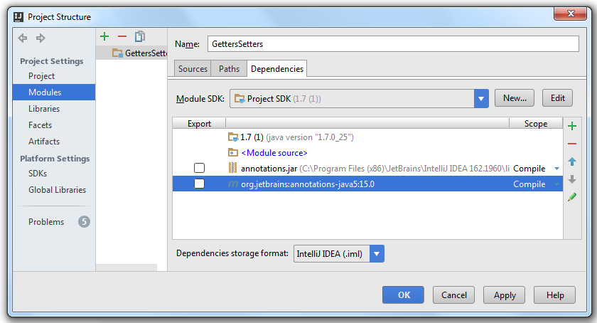 how to move intellij dependencies to gradle file