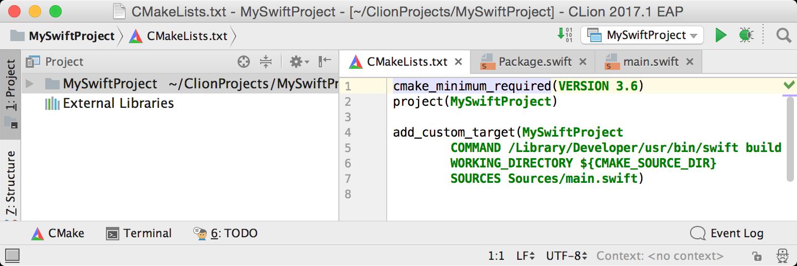 cl MySwiftProject