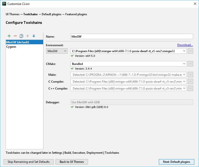 cl configuringToolchains1