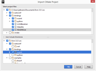 cl importCMakeProject