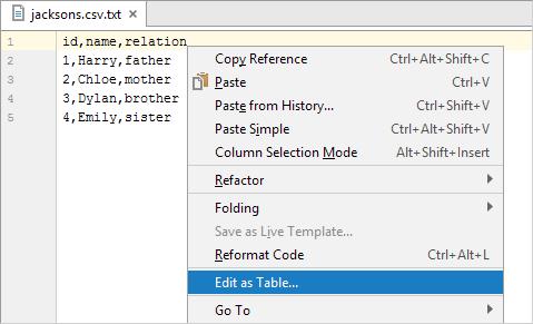 edit as table