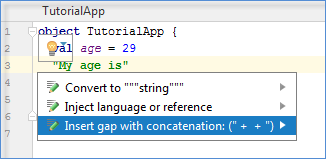 gap concatination