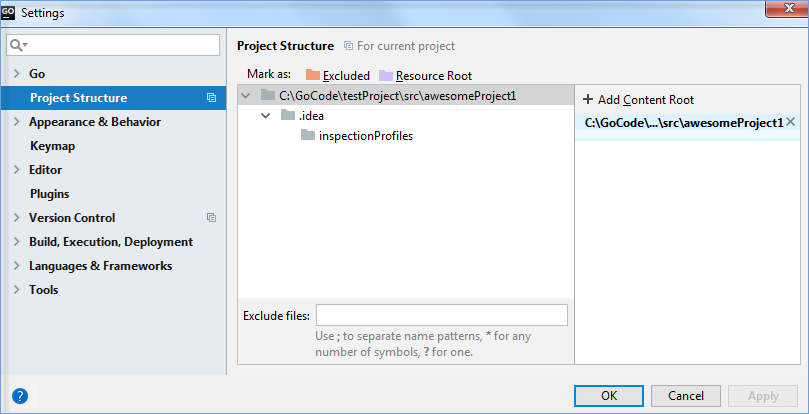 go project structure