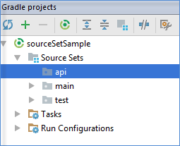 gradle source sets tool window