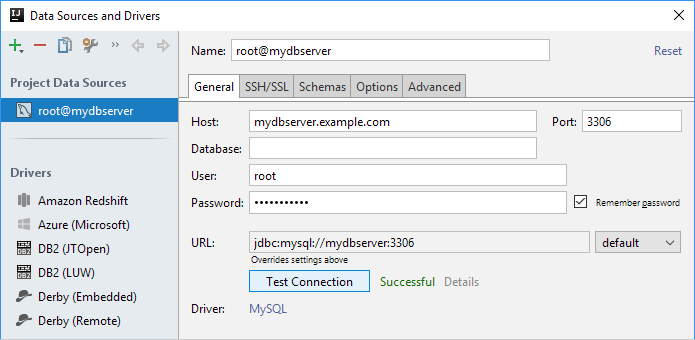 ijDBMySQLConnectionSuccessful
