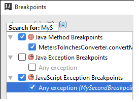 ij breakpoint search