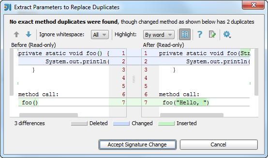 ij extract method duplicates