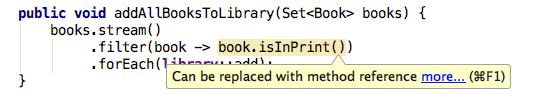 ij java 8 can be replaced with method ref