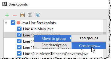ij move breakpoint to group