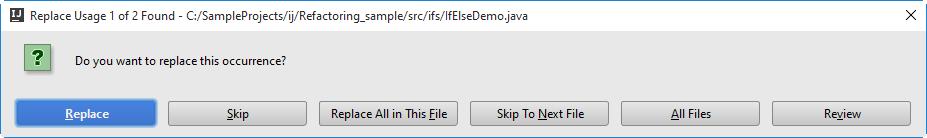 ij replace usage
