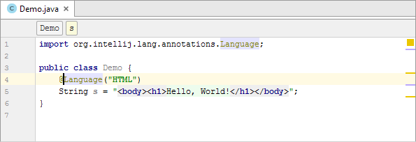java inject annotation html injected